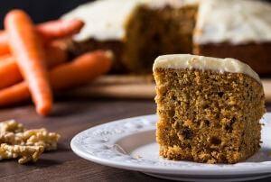 piece of carrot cake