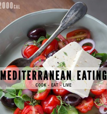 Mediterranean Eating Cookbook (eBook) with 2000 Calorie Plan