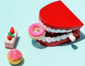 tooth decay from sugary foods